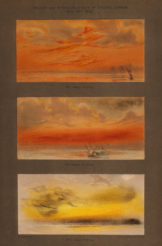 Detail of Atmospheric effects of the Krakatoa eruption by Cambridge Scientific Instrument Company