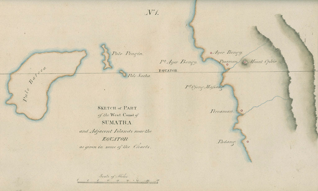 Chart of Western Sumatra by unknown