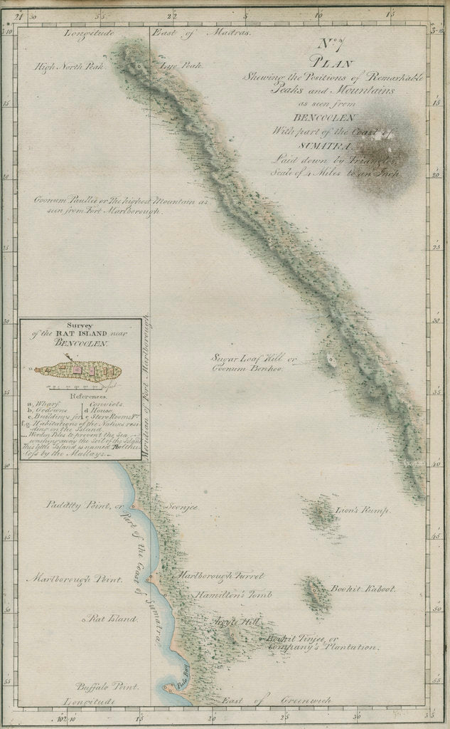 Detail of Map of South-West Sumatra by unknown