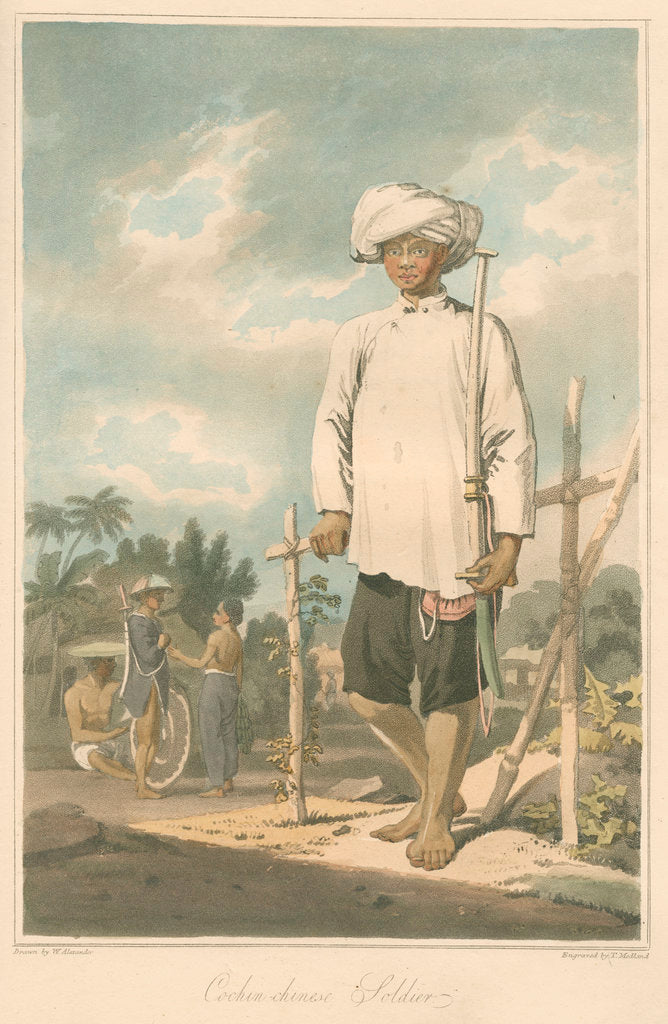 Detail of 'Cochin-chinese soldier' by Thomas Medland