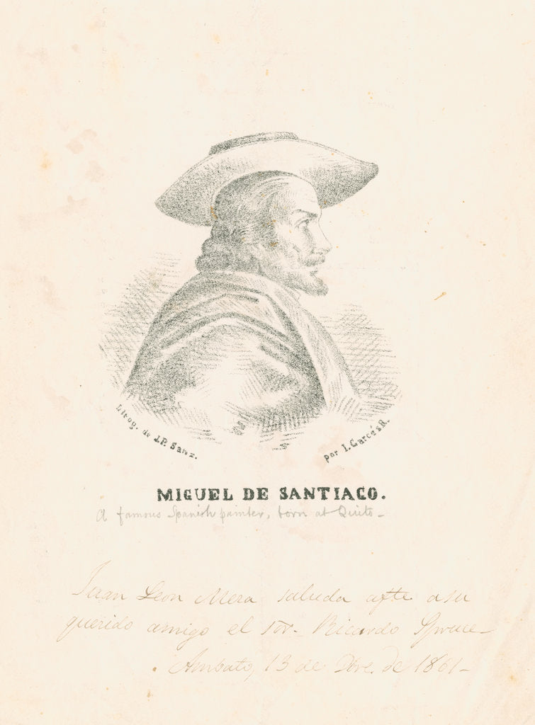 Detail of Portrait of Miguel de Santiago by Richard Spruce