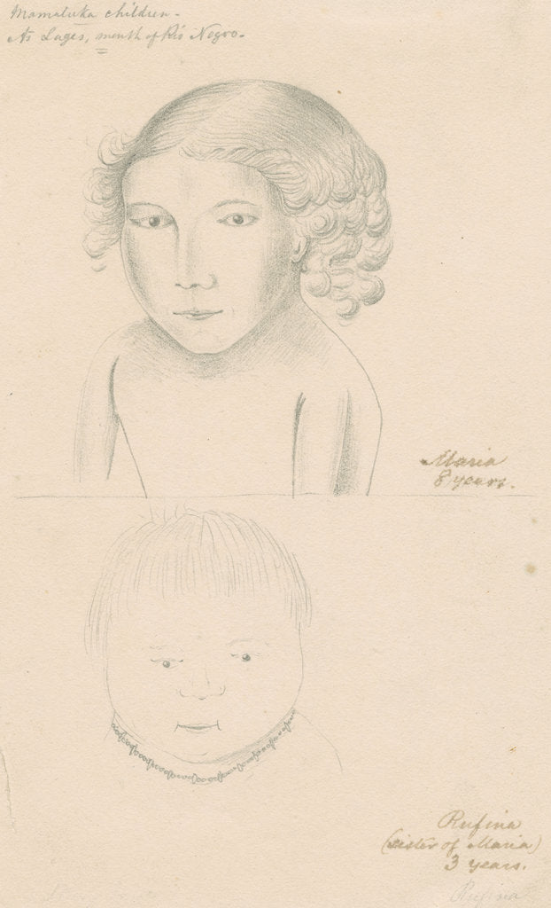 Detail of Portraits of Rufina and Maria by Richard Spruce
