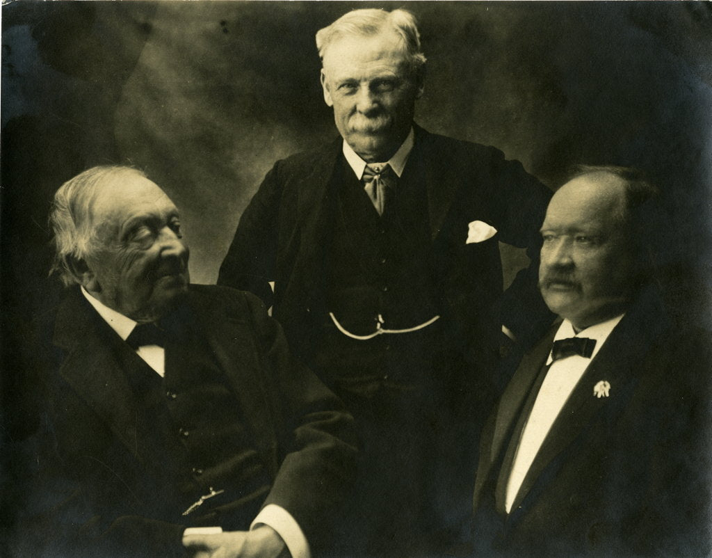 Detail of Group portrait of three chemists by Elliott & Fry