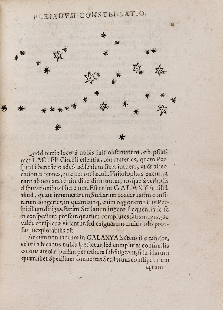Detail of Pleiades star cluster by After Galileo Galilei