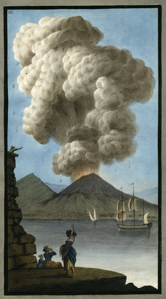 Detail of Eruption of Mount Vesuvius by Pietro Fabris