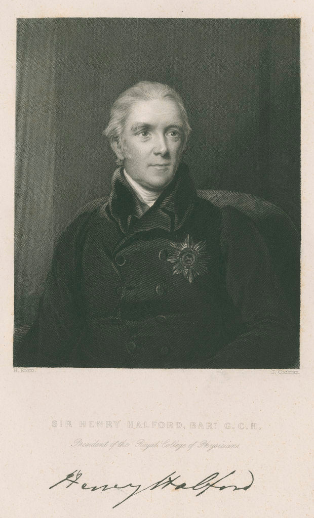 Portrait of Sir Henry Halford (1766-1844) by John Cochran
