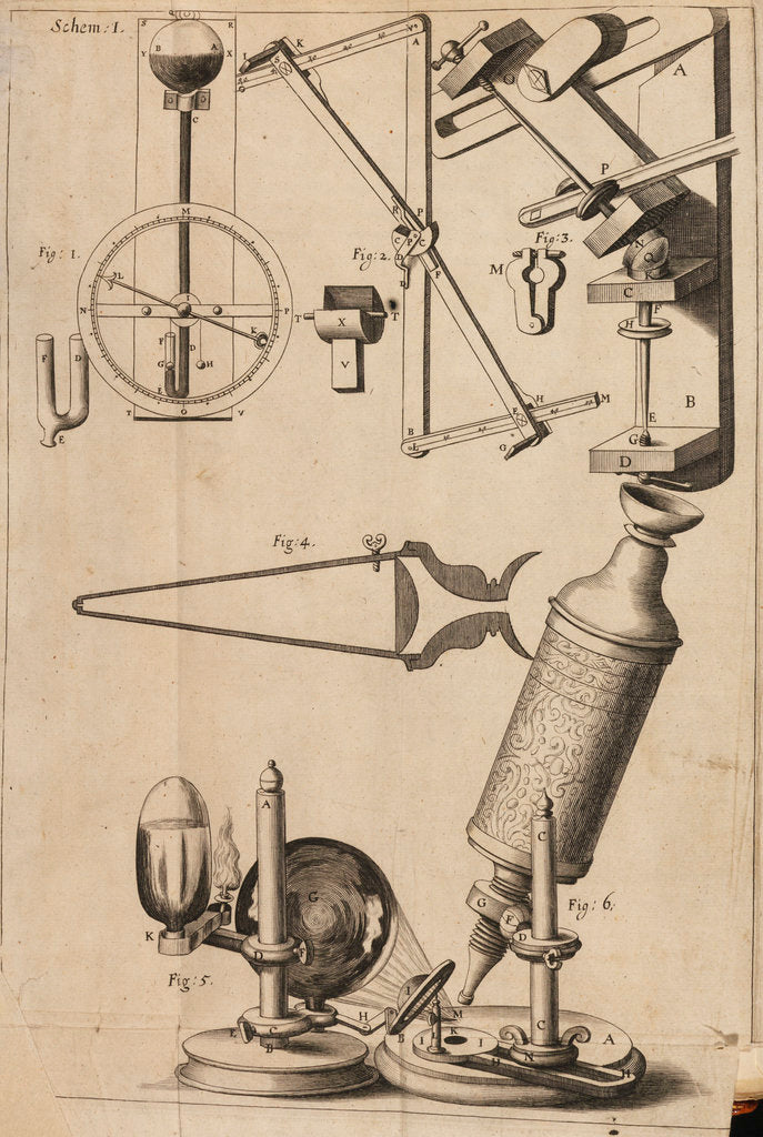 Detail of Robert Hooke's microscope by Robert Hooke