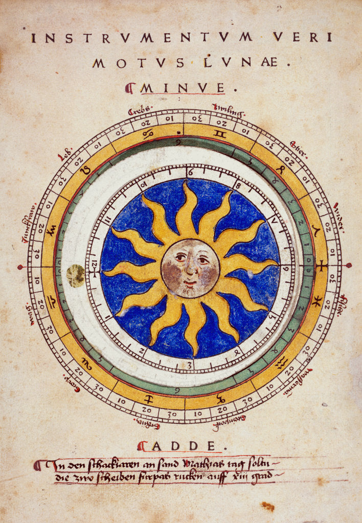 Detail of Moveable disc calendar by Anonymous