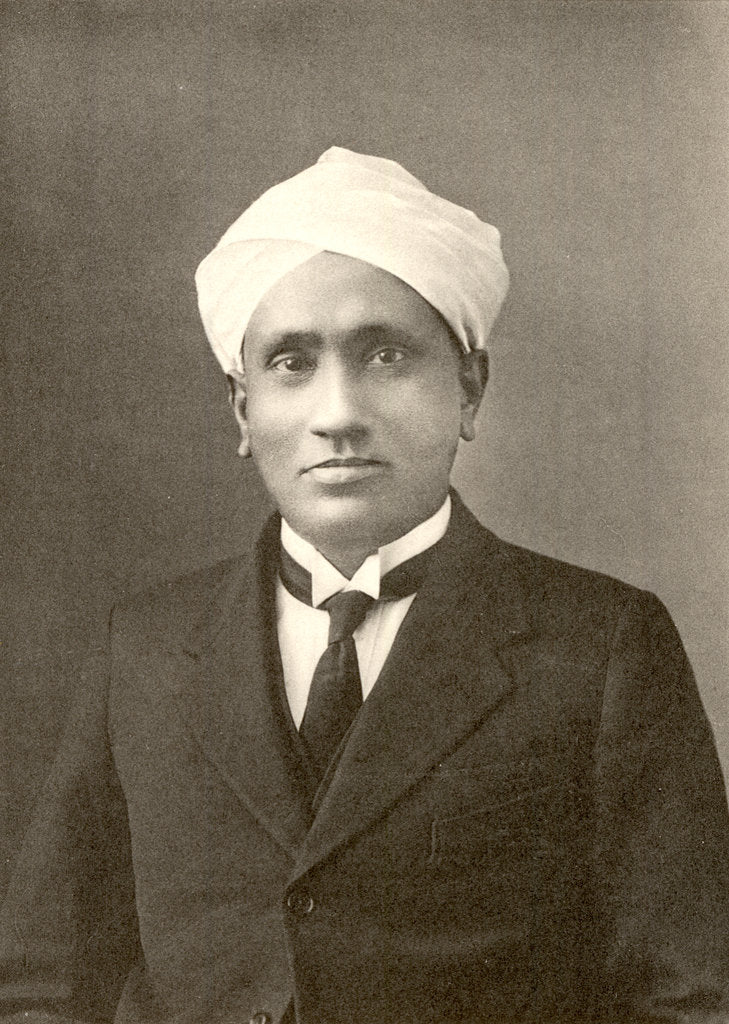 Detail of Portrait of Chandrasekhara Venkata Raman (1888-1970) by Anonymous