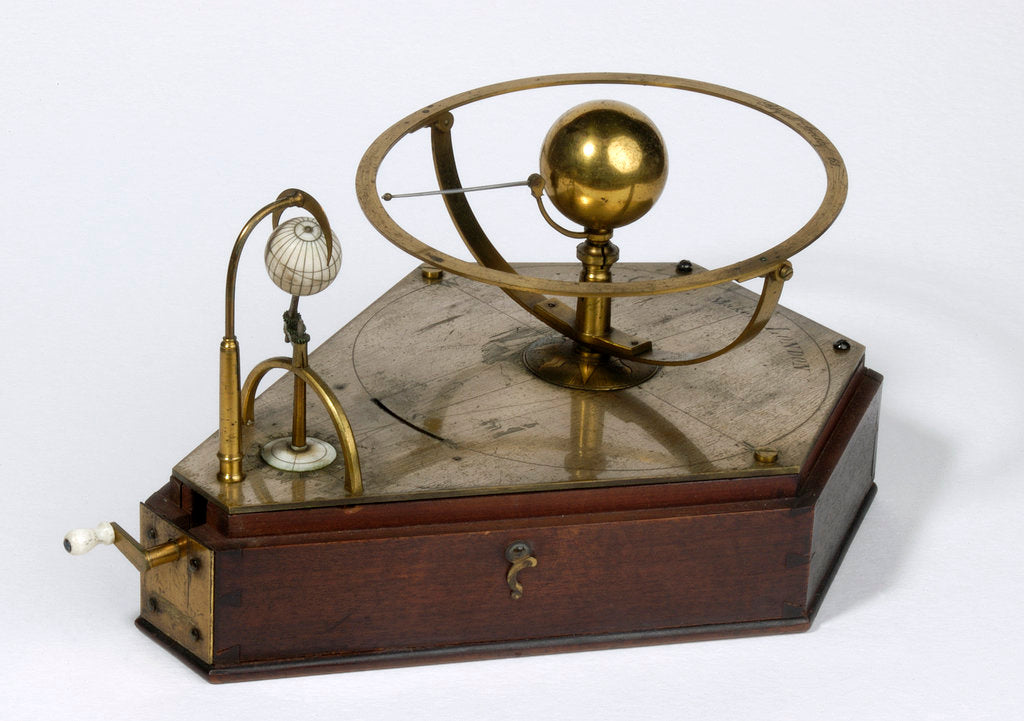 Detail of Orrery demonstrating the transit of Venus by Benjamin Cole