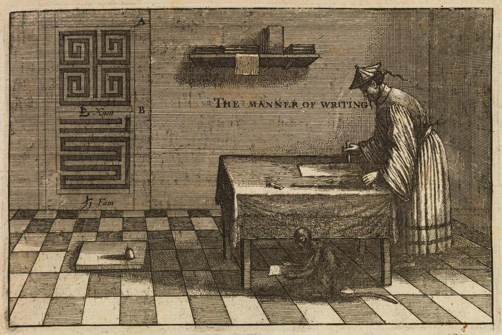 A method of Chinese writing by Wenceslaus Hollar