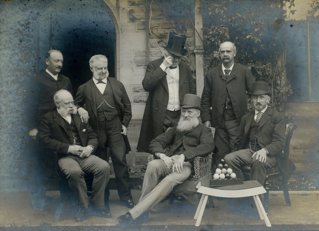 Detail of Scientists at a meeting of the British Association for the Advancement of Science by Anonymous