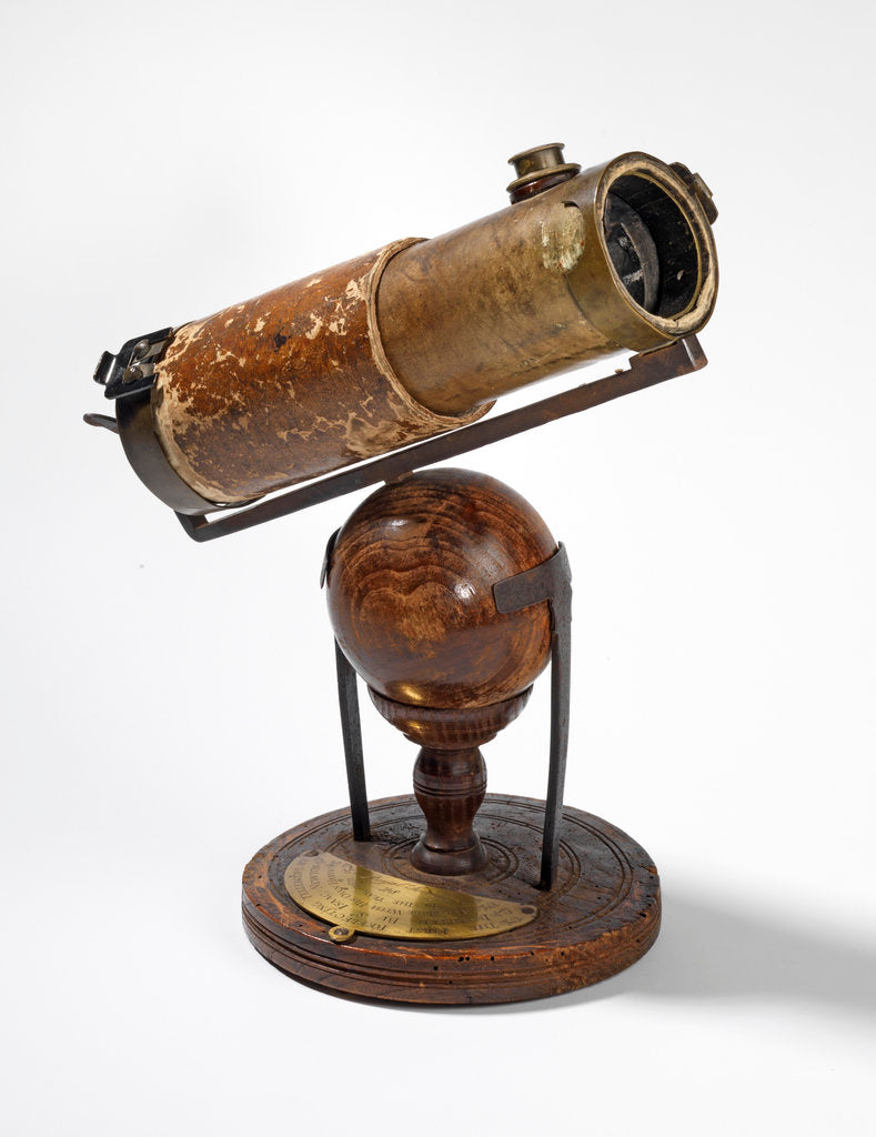 Detail of Isaac Newton's reflecting telescope by Anonymous