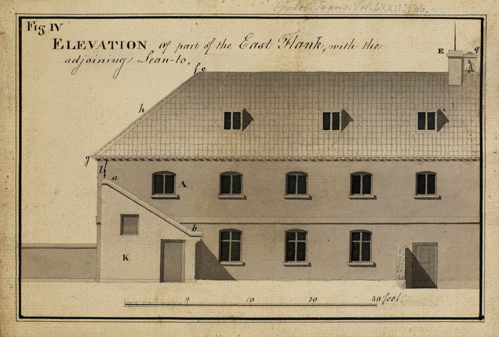 Detail of Elevation of part of the East flankà [of Heckingham Workhouse, Norfolk by Anonymous