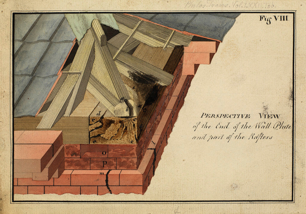 Detail of Perspective view of the End of the Wall Plateà [of Heckingham Workhouse, Norfolk] by Anonymous