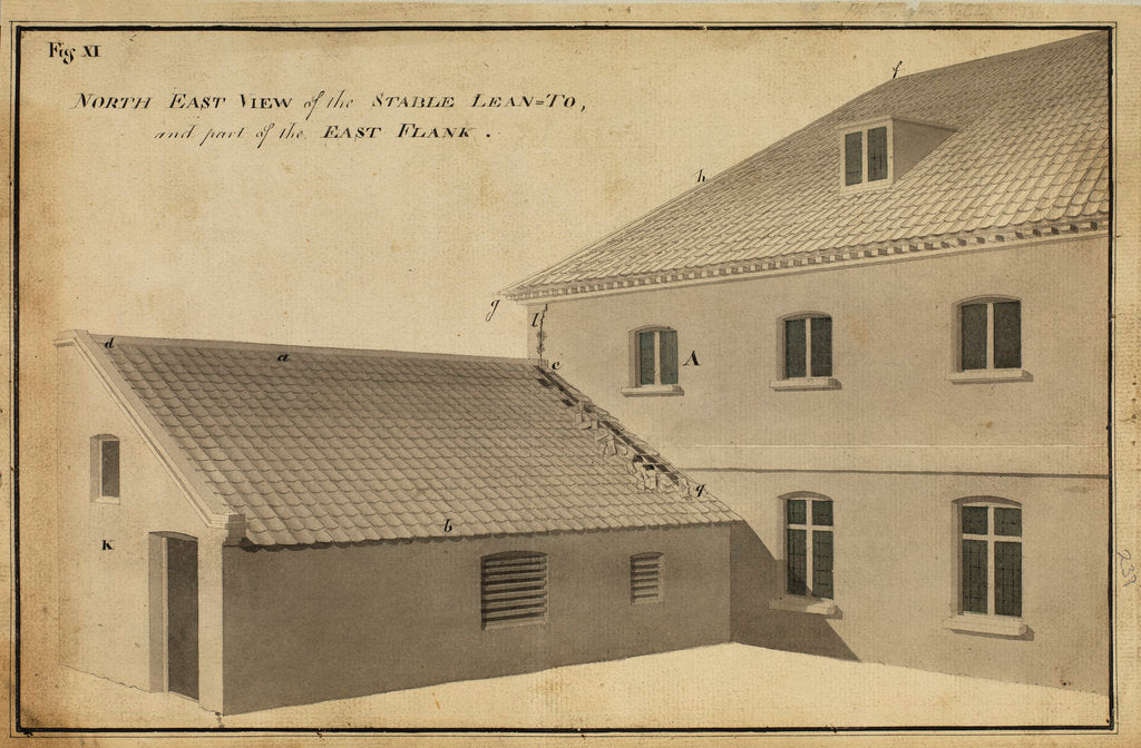 Detail of North East view of the Stable Lean-toà [of Heckingham Workhouse, Norfolk] by Anonymous