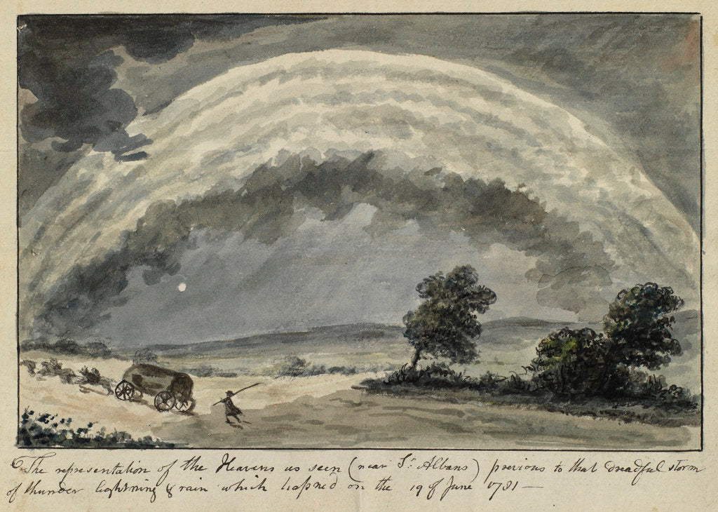 Detail of Thunderstorm near St Albans, Hertfordshire by Anonymous