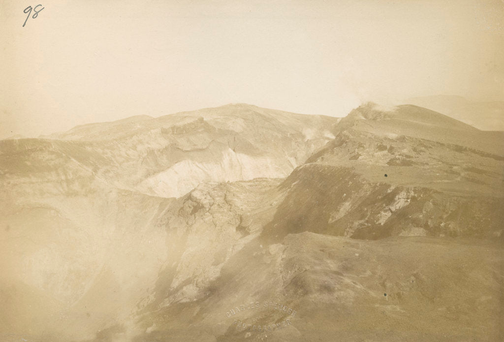 Detail of 'Rift in Top of Mount Tarawera' by Charles Spencer