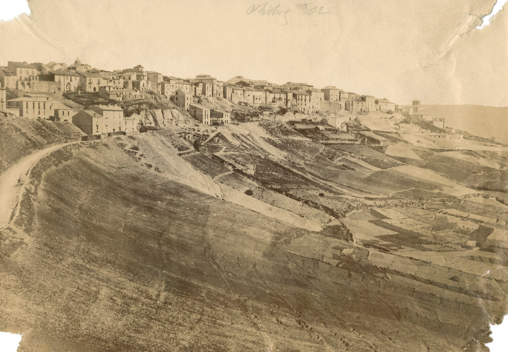 Detail of 'Potenza, north side' by Alphonse Bernoud Grellier