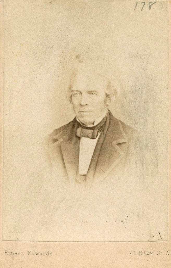 Detail of Portrait of Michael Faraday (1791-1867) by Ernest Edwards