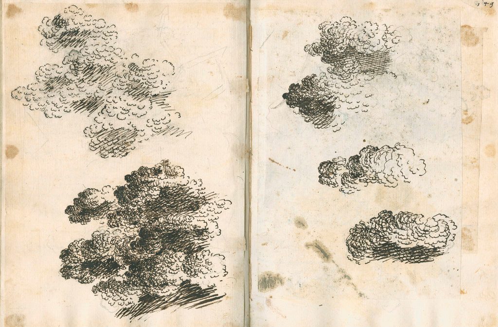 Detail of Studies of volcanic ash clouds by Antonio Piaggio