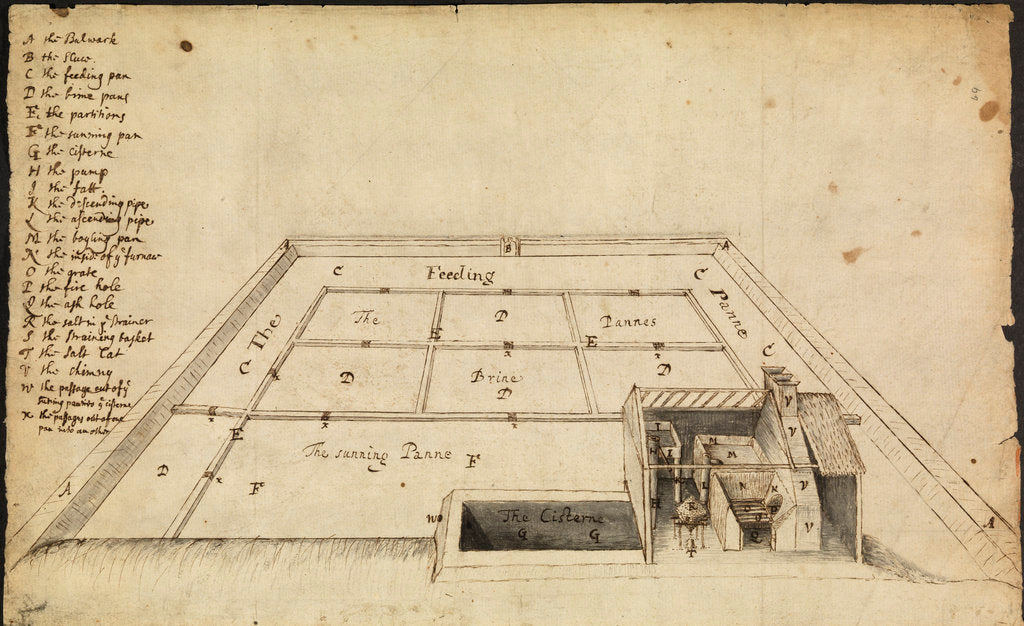 Salt-works at Hampshire by Robert Hooke