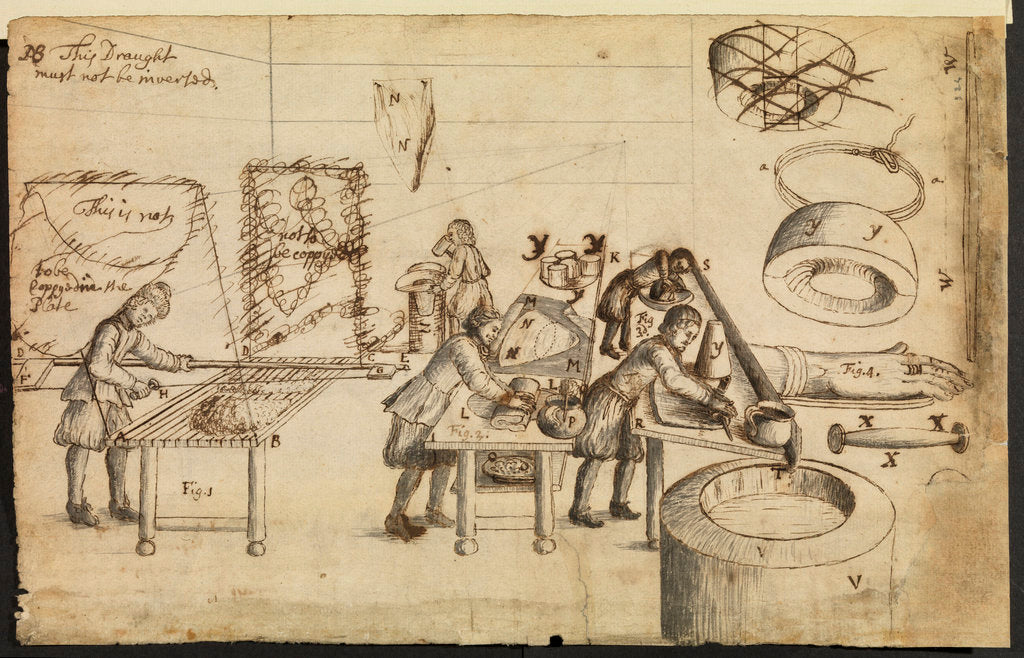 Detail of Felt-makers at work by Robert Hooke