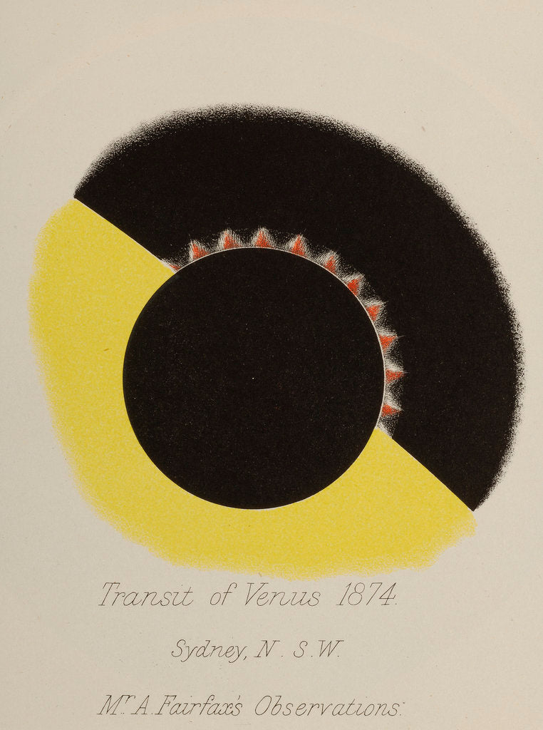 Detail of Mr Fairfax's observations of the transit of Venus by Anonymous