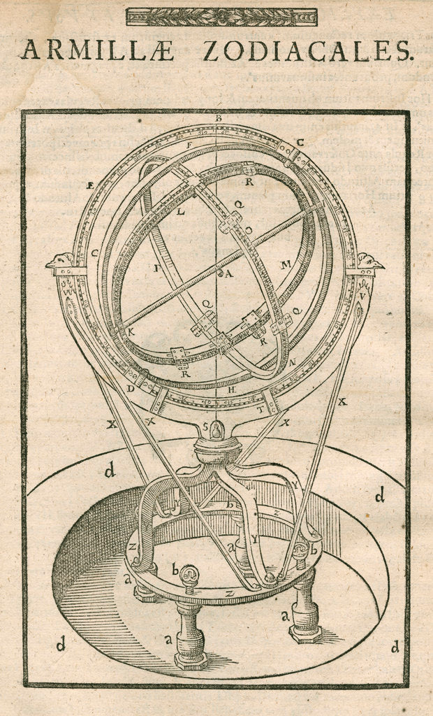 Detail of Tycho Brahe's zodiacal armillary sphere by Anonymous