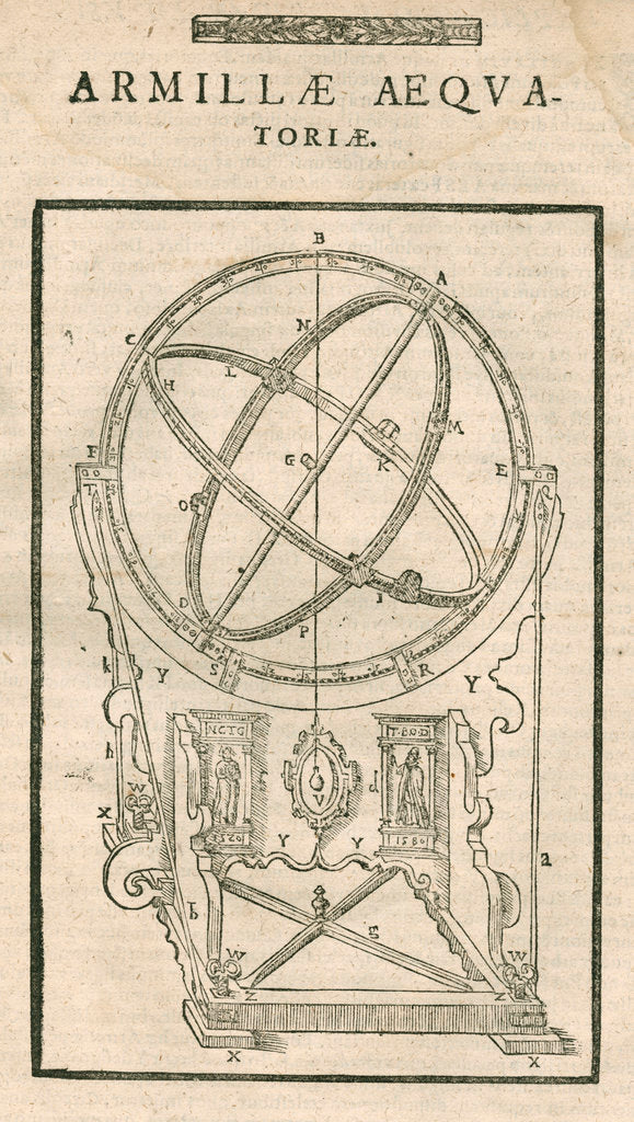 Detail of Tycho Brahe's equatorial armillary sphere by Anonymous