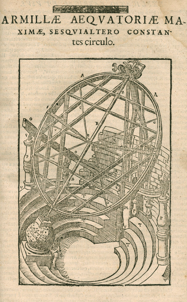Detail of Tycho Brahe's great equatorial armillary instrument by Anonymous