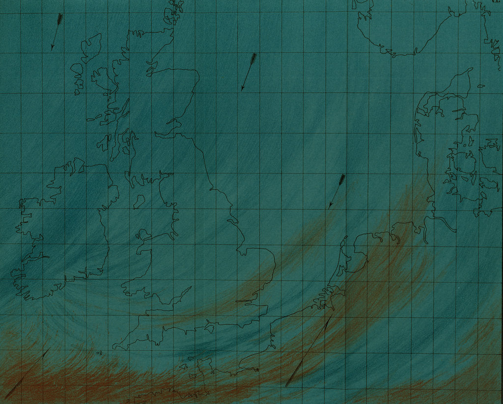 Detail of Map showing polar air current by Martin & Hood