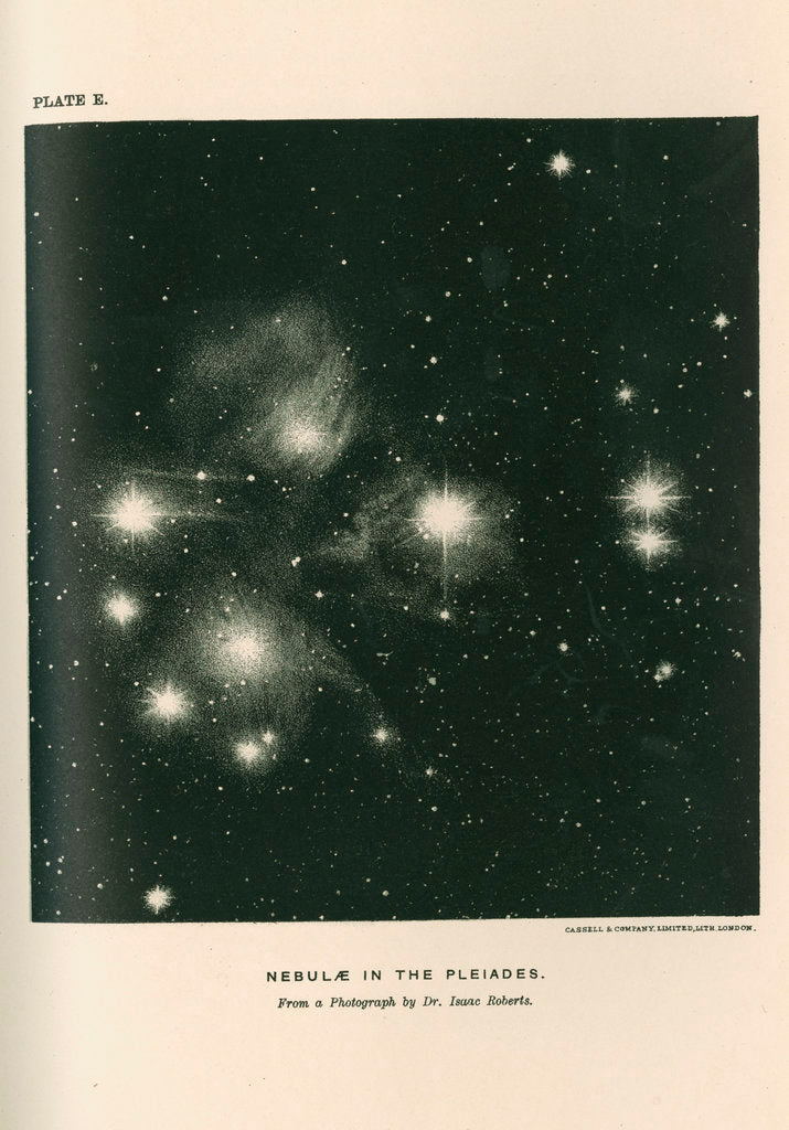 Detail of 'Nebulae in the pleaides' by Cassell & Co