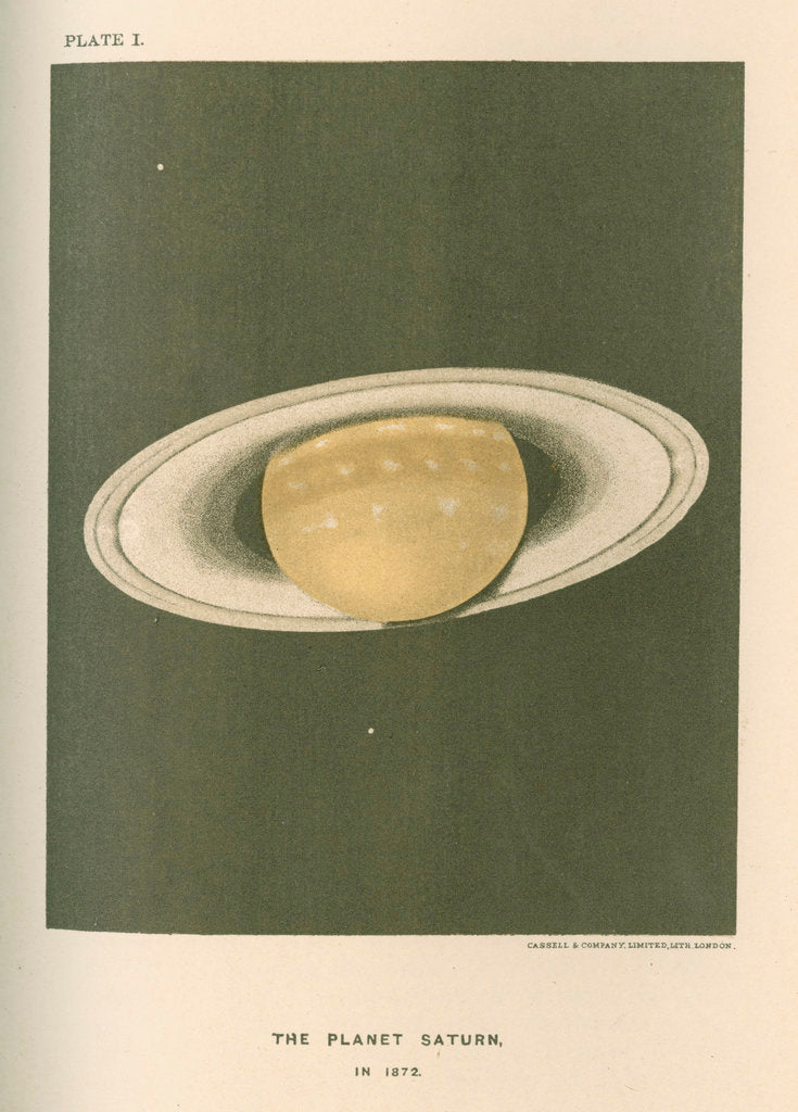 Detail of 'The planet Saturn (in 1872)' by Cassell & Co