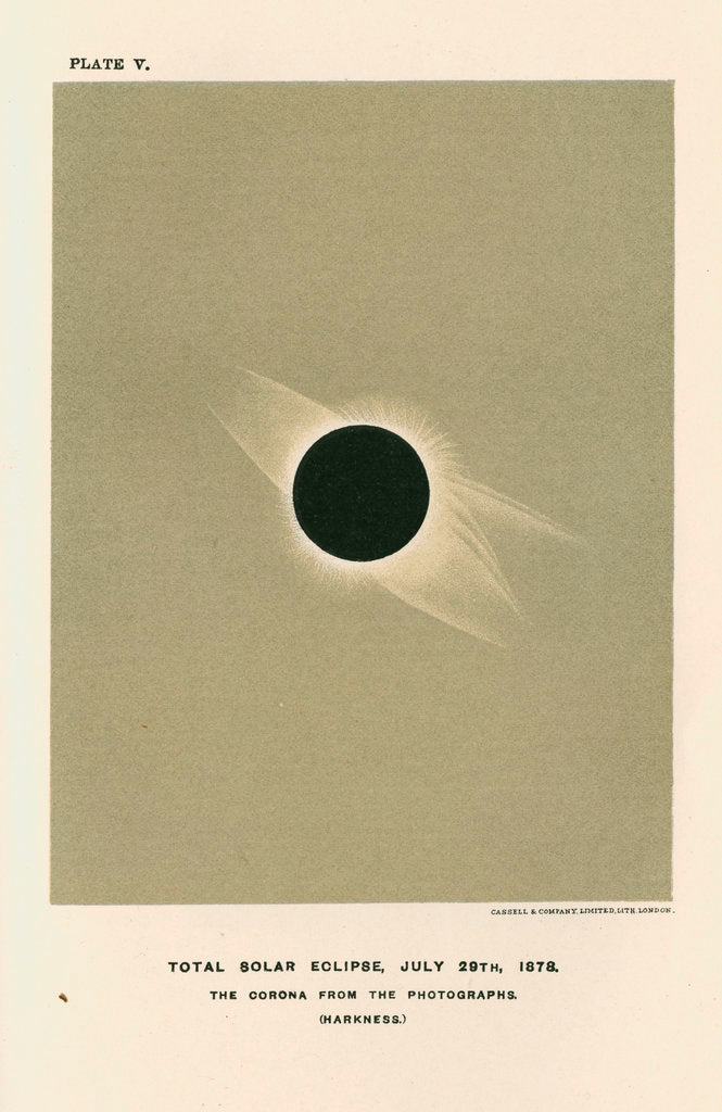 Detail of 'Total solar eclipse, July 29th 1878' by Cassell & Co