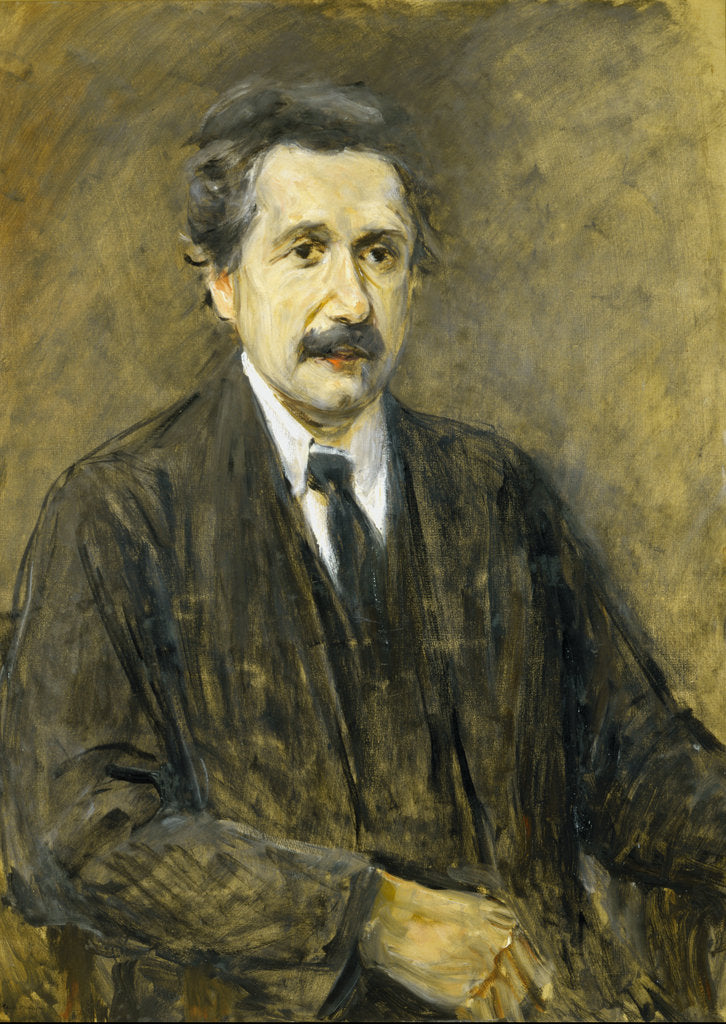 Detail of Portrait of Albert Einstein (1879-1955) by Max Liebermann