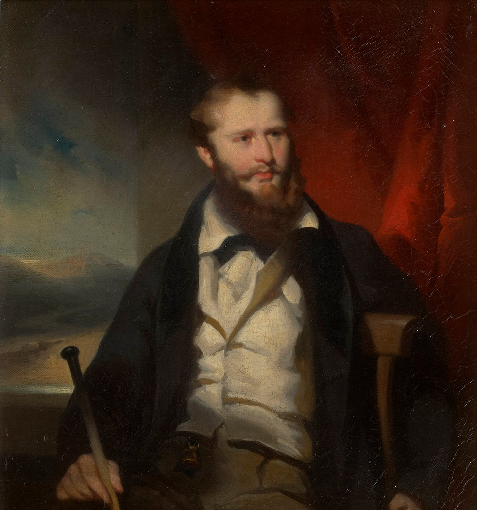 Detail of Portrait of James Holman (1786-1857) by George Chinnery