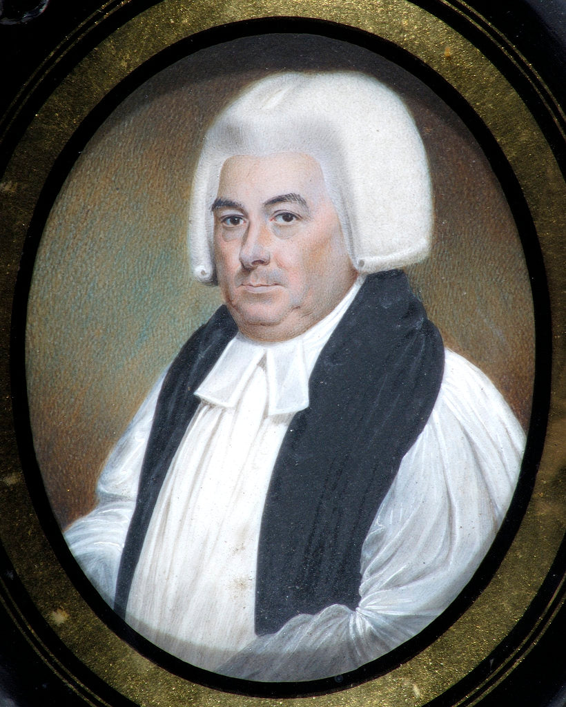 Detail of Miniature of Samuel Horsley (1733-1806) by Walter Stephens Lethbridge