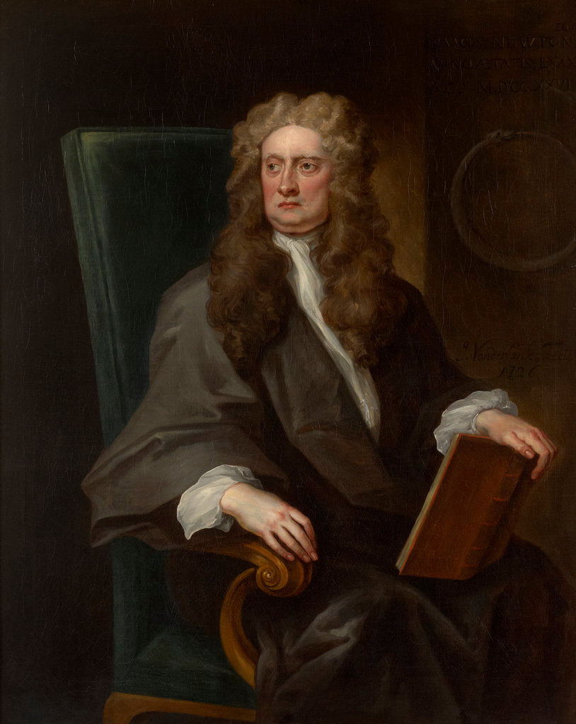 Detail of Portrait of Isaac Newton (1642-1727) by John Vanderbank