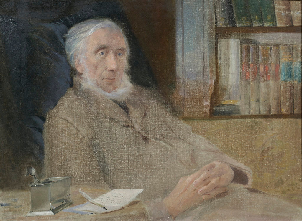 Detail of Portrait of John Tyndall (1820-1893) by John McLure Hamilton