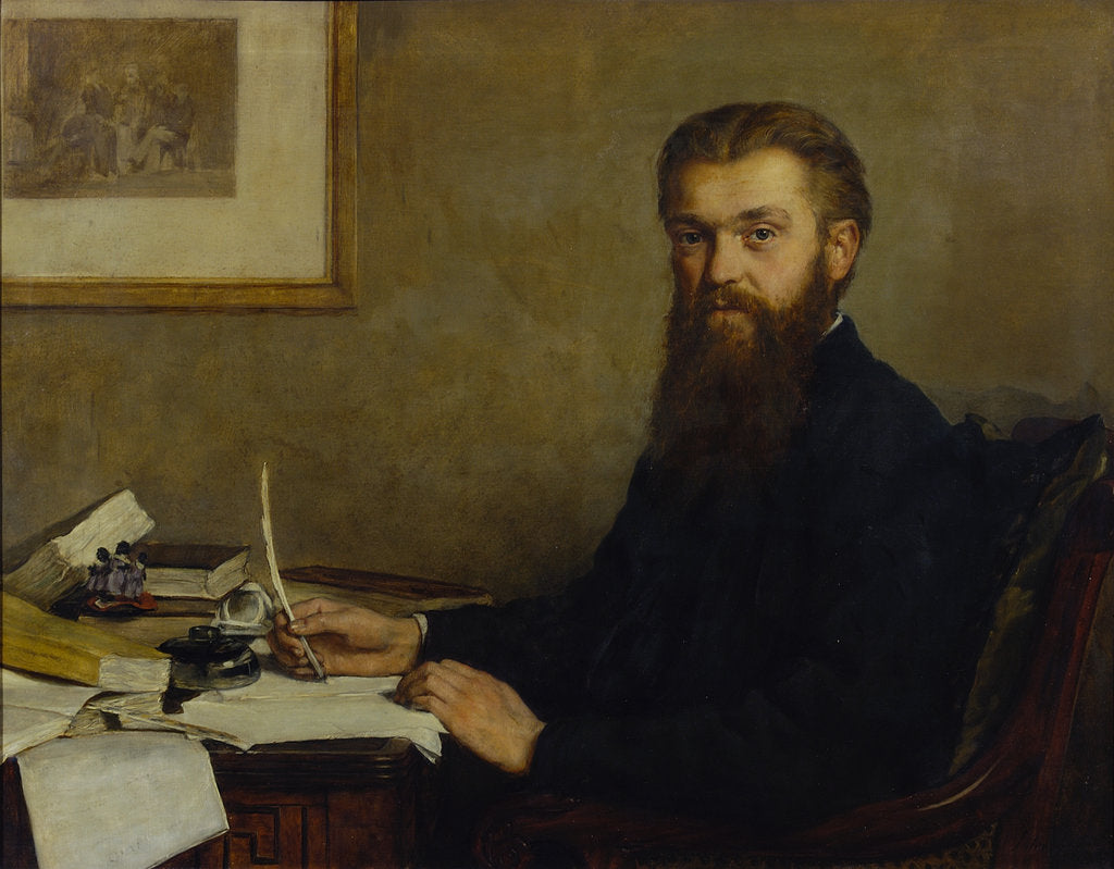 Detail of Portrait of William Kingdon Clifford (1845-1879) by John Collier