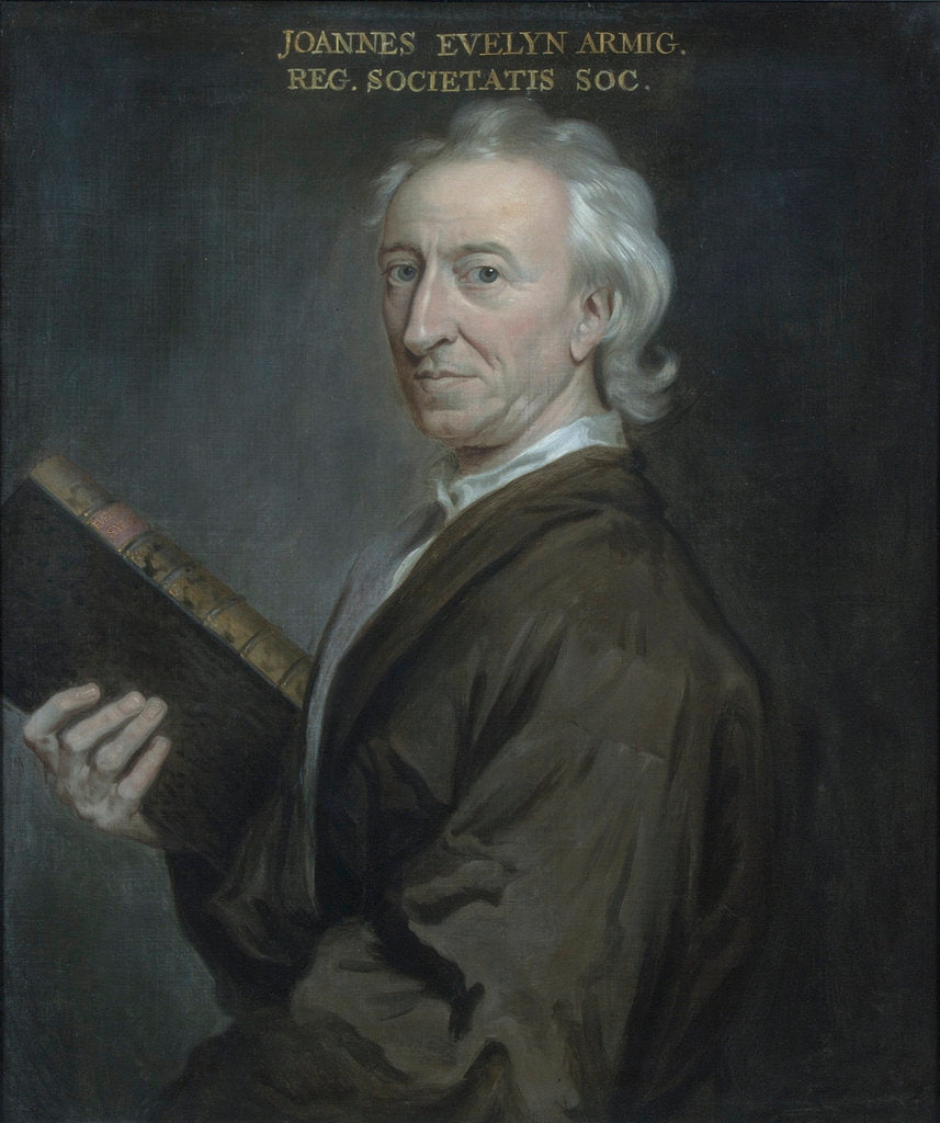 Portrait of John Evelyn (1620-1706) by Godfrey Kneller