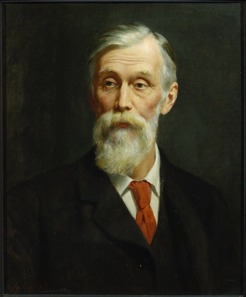 Detail of Portrait of Michael Foster (1836-1907) by John Collier
