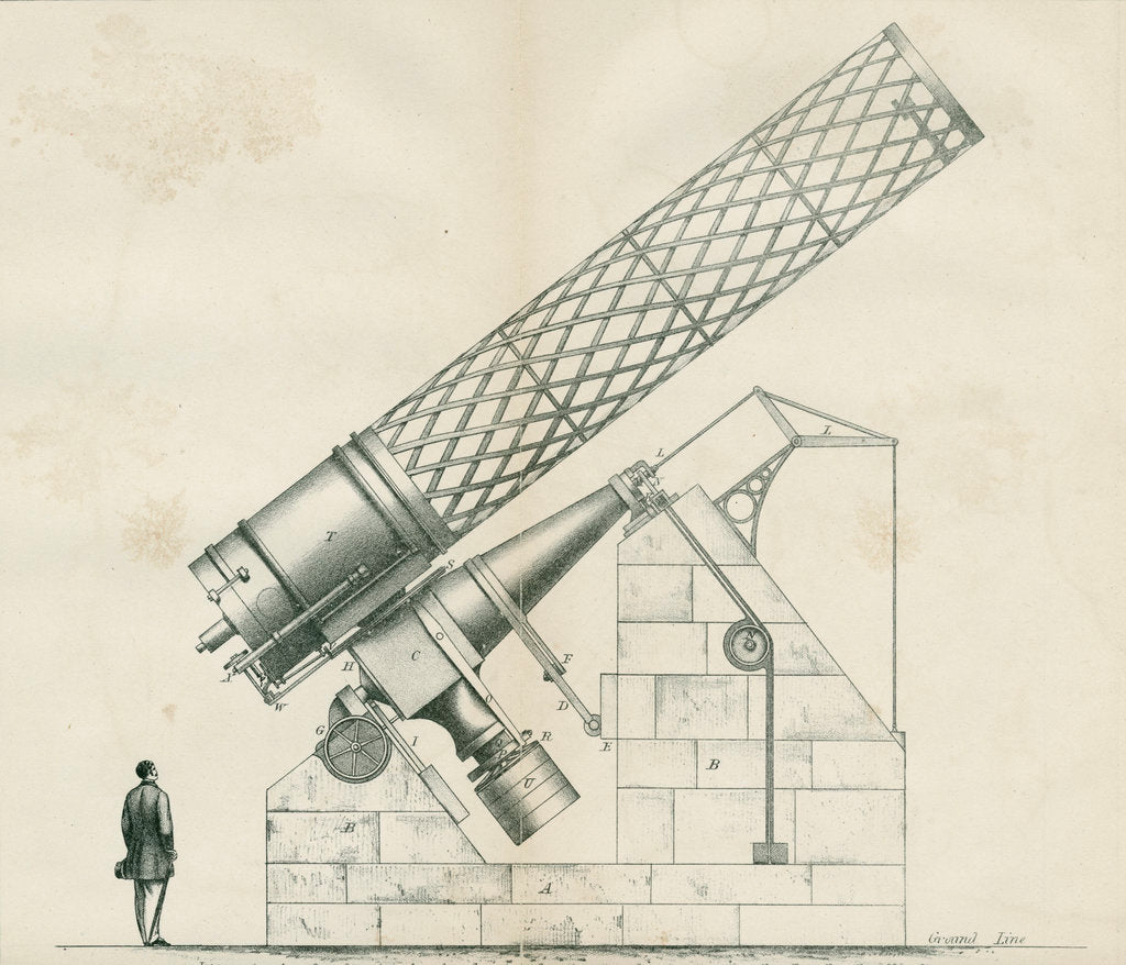 Detail of Artist's impression of the Great Melbourne Telescope by W H Wesley