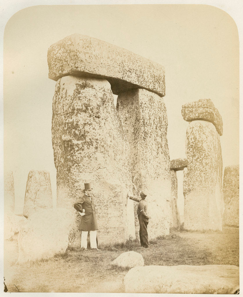 Detail of 'Stonehenge. Trilithons (B and C) from the South West' by Henry James