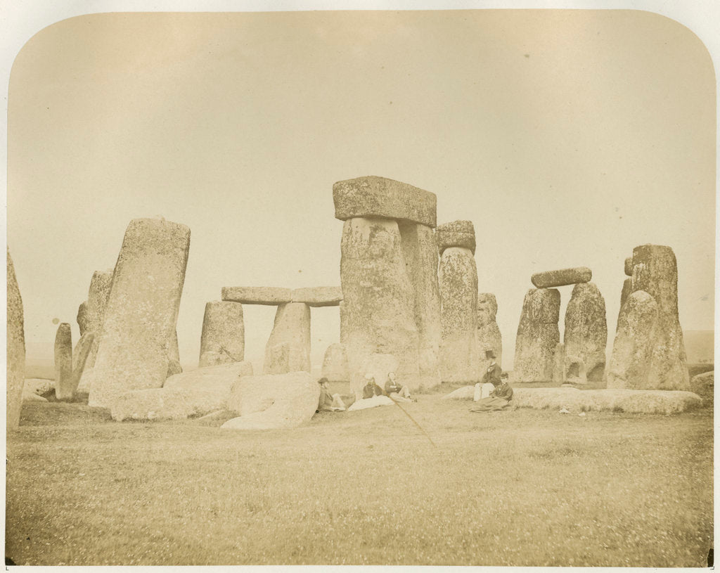 Detail of 'Stonehenge. View from the South West' by Henry James