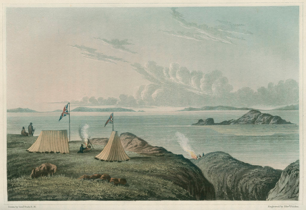 Detail of View of the Arctic Sea, from the mouth of the Copper Mine River by Edward Francis Finden