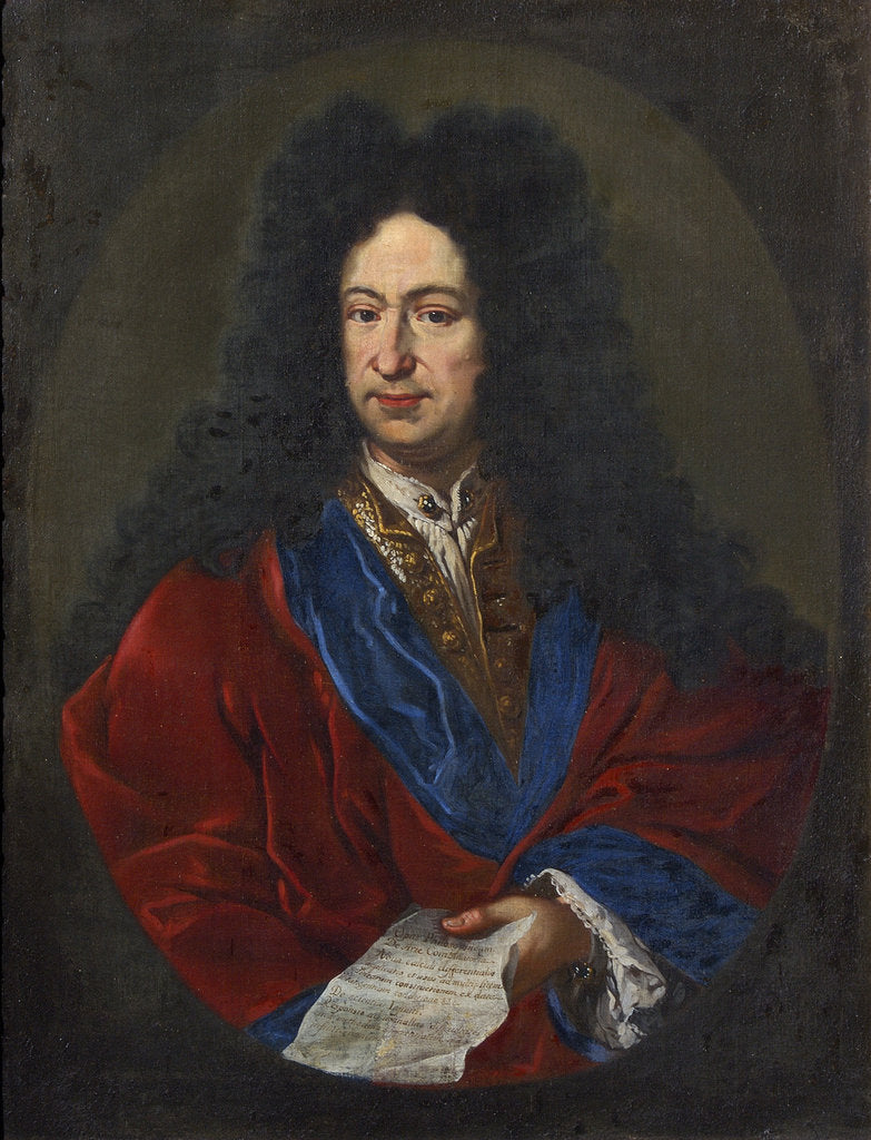 Detail of Portrait of Gottfried Wilhelm Leibniz (1646-1716) by unknown