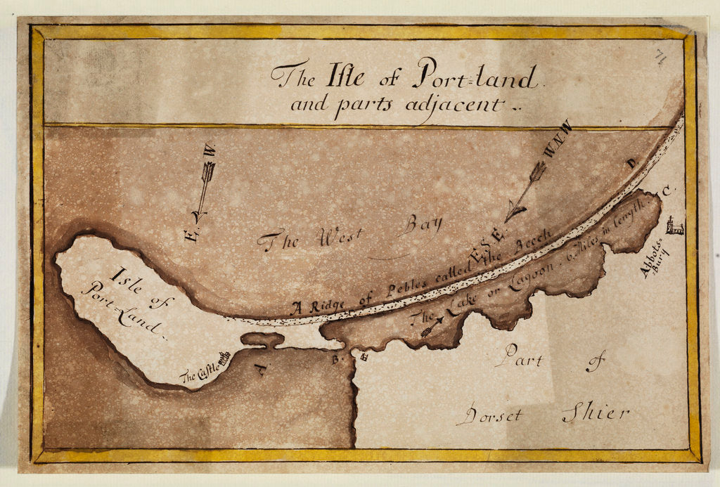 Detail of Map of the Isle of Portland by Anonymous