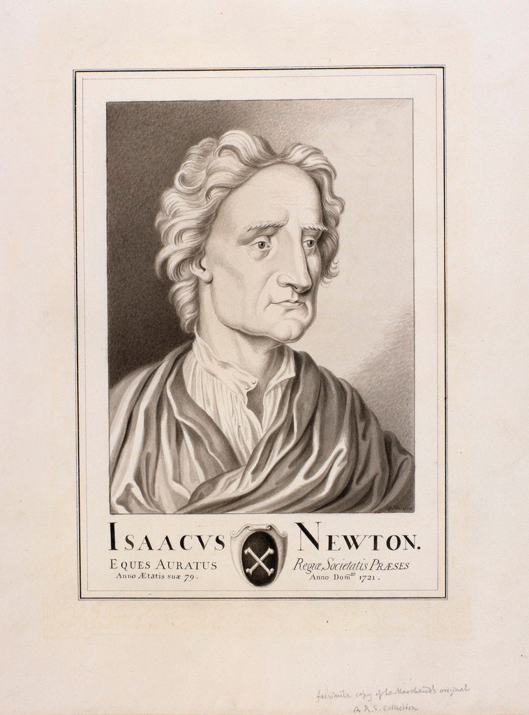 Detail of Portrait of Isaac Newton (1642-1727) by George Perfect Harding